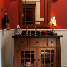 Traditional Powder Room by Allegro Builders