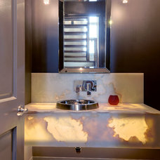 Contemporary Powder Room by Solcorp Developments