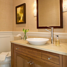beach style powder room by Kitchens & Baths, Linda Burkhardt