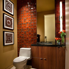 Contemporary Powder Room by Link Architecture, PC