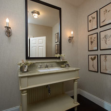 Traditional Powder Room by mark cutler