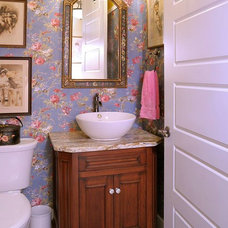 Traditional Powder Room by Mullet Cabinet