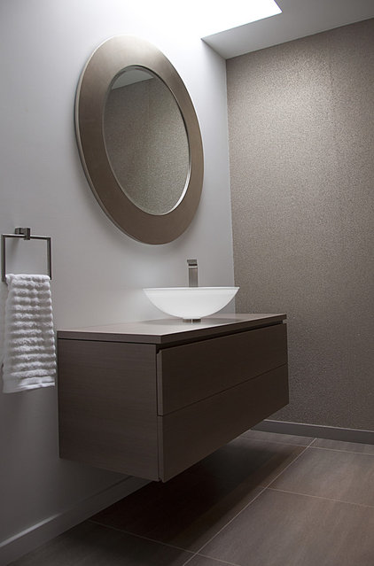 Modern Powder Room by Ginkgo House Architecture