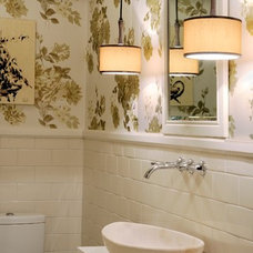 Eclectic Powder Room by Laura Zender Design, Allied ASID