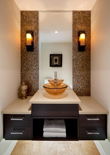 Contemporary Powder Room by Jenny Martin Design