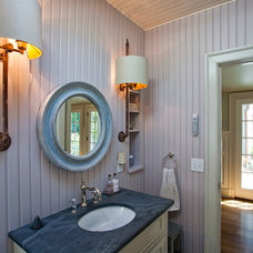 Farmhouse Powder Room by Doyle Coffin Architecture LLC