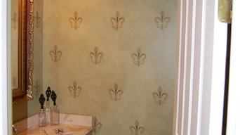 antique French powder room