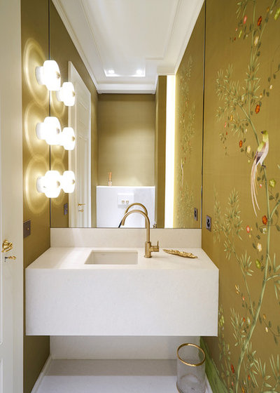 Contemporary Powder Room by I Love Colours Studio
