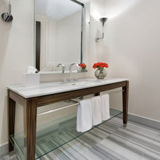Contemporary Powder Room by SoJo design