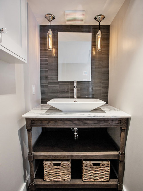 Open Bathroom Vanity Houzz