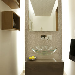 contemporary powder room ARCO Arquitectura Contemporanea