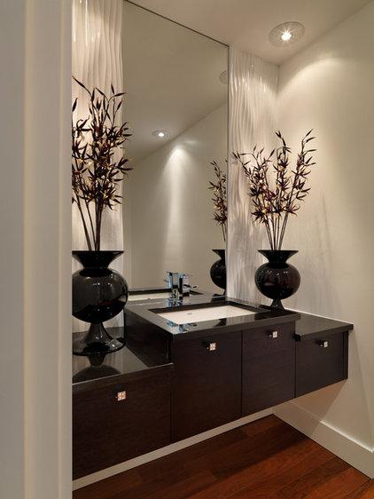 Contemporary Powder Room by Jenny Martin Design
