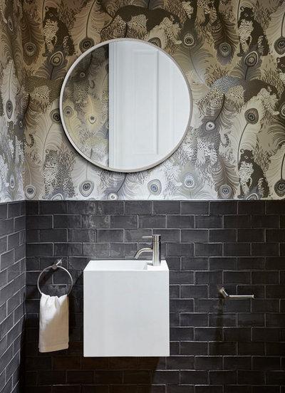 Contemporary Powder Room by Michael Downes - UA Creative