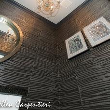 Eclectic Powder Room by Saadia Sullivan Design