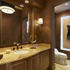 Contemporary Powder Room by Arnold Schulman Design Group