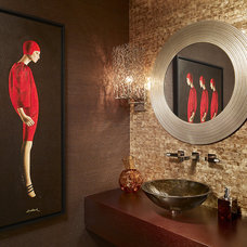 Contemporary Powder Room by Arnold Schulman Design Group