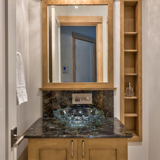 Contemporary Powder Room by Glennwood Custom Builders (NC)