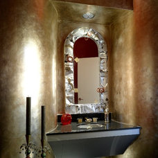Contemporary Powder Room by Handcrafted Homes, Inc
