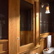 Craftsman Powder Room by David Heide Design Studio