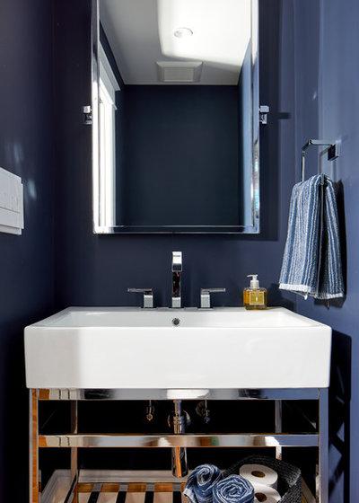 Transitional Powder Room by WINN Design+Build