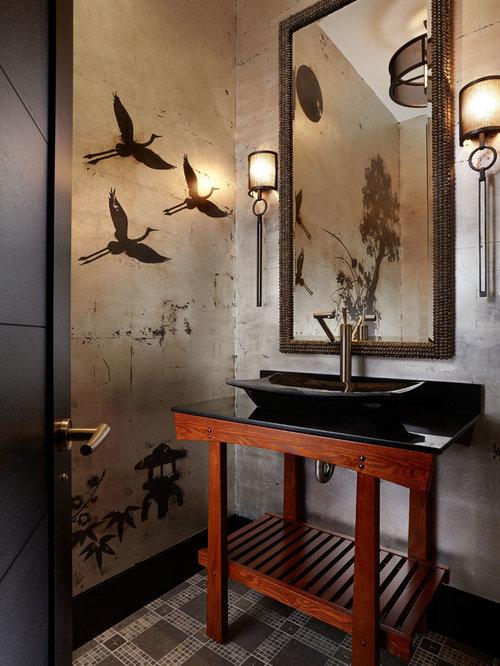 Piccolo bagno etnico - Foto, Idee, Arredamento