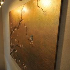 Asian Powder Room by Susan Deneau Interior Design
