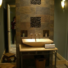 Asian Powder Room by Ceramiche Tile & Stone, Inc