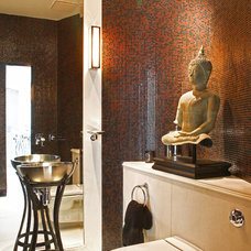 Asian Powder Room by FISHER HART