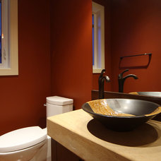 Contemporary Powder Room by A Collaborative Design Group
