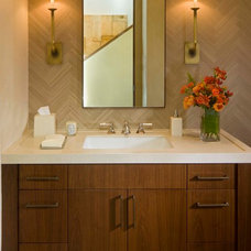 Modern Powder Room by Kristi Will Home + Design