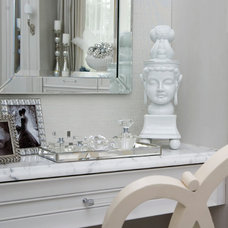 Traditional Powder Room by Habachy Designs