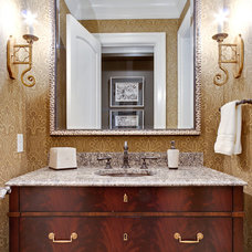 Traditional Powder Room by Fowler Interiors