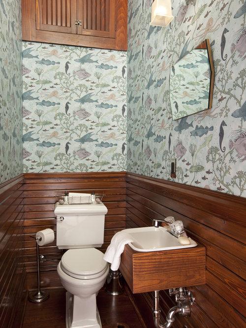 Wood panel bathroom houzz for Wood panelled bathroom ideas