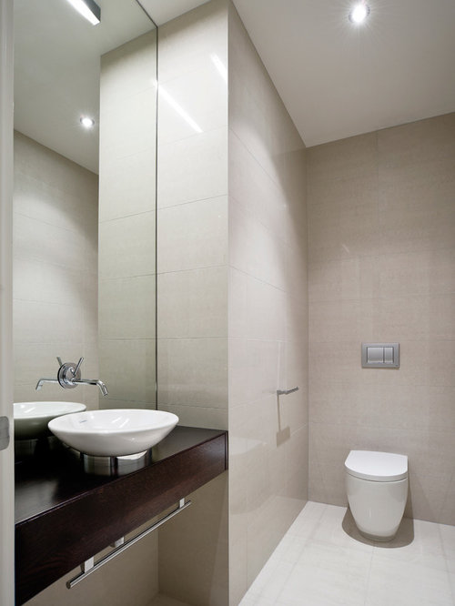 Modern toilet houzz for Modern washroom designs