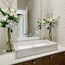 Contemporary Powder Room by John Lively & Associates