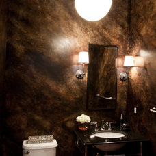 Contemporary Powder Room by Elizabeth Reich
