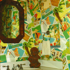 Eclectic Powder Room by Anne White Interiors, LLC