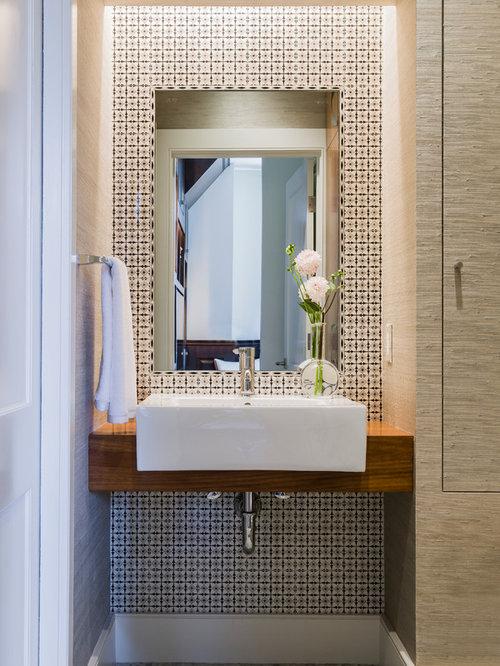 Modern powder room design ideas remodels photos for Modern powder room design