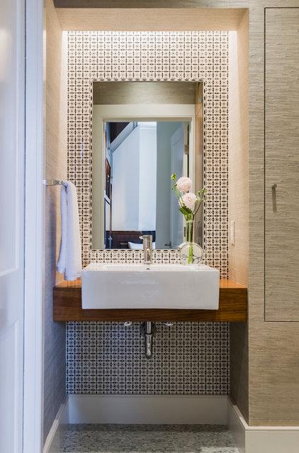 Modern Powder Room by Annie Hall Interiors