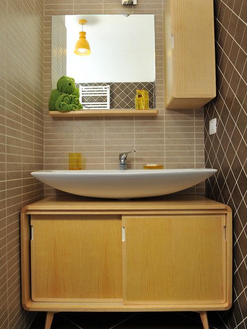 Foto e Idee per Bagni di Servizio - bagno di servizio con pareti ...