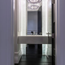 Contemporary Powder Room by Novel Painting Solutions Inc.