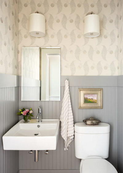 Traditional Powder Room by C. Kramer Interiors
