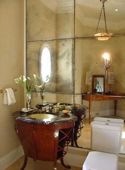 Traditional Powder Room by Handman Associates