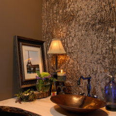 contemporary powder room by Christopher Kellie Design Inc.