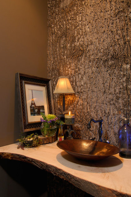 Rustic Powder Room by Christopher Kellie Design Inc.