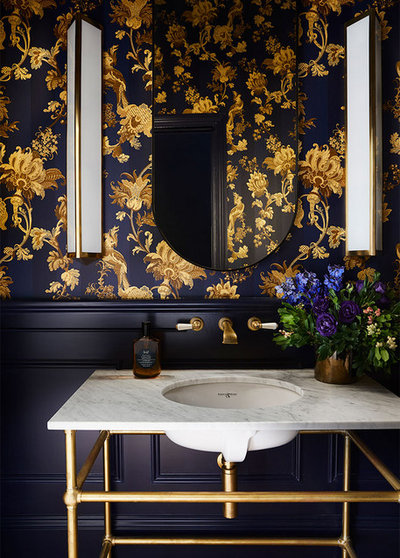 Transitional Powder Room by In Residence - Kitchen, Bathroom, Hardware