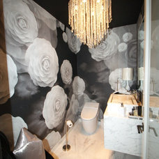 Contemporary Powder Room by Charles Neal Interiors
