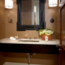 modern powder room by COOK ARCHITECTURAL Design Studio