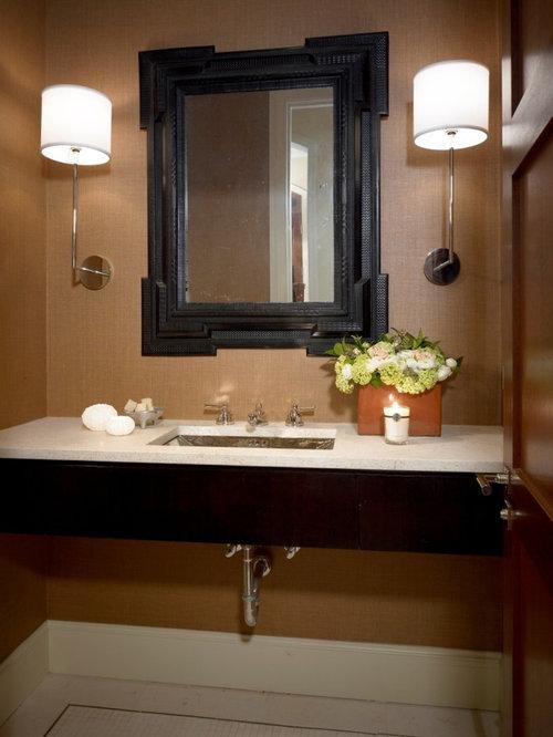 Powder room sinks houzz for Contemporary powder room sinks