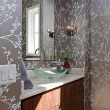 Eclectic Powder Room by Butterfield Custom Homes